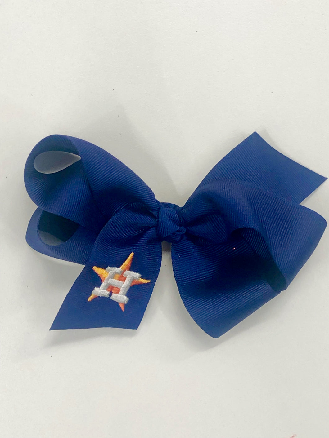 Astros Blue Hair Bow