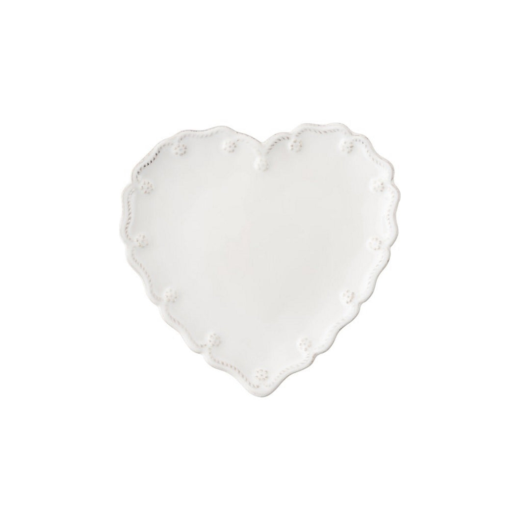 Juliska Berry & Thread Whitewash Cocktail Plate Heart