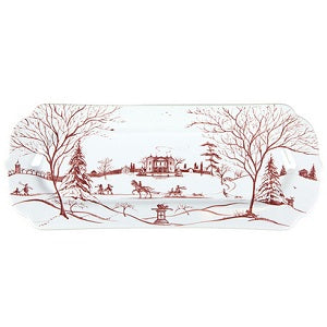 Juliska Country Estate Winter Frolic Ruby Hostess Tray