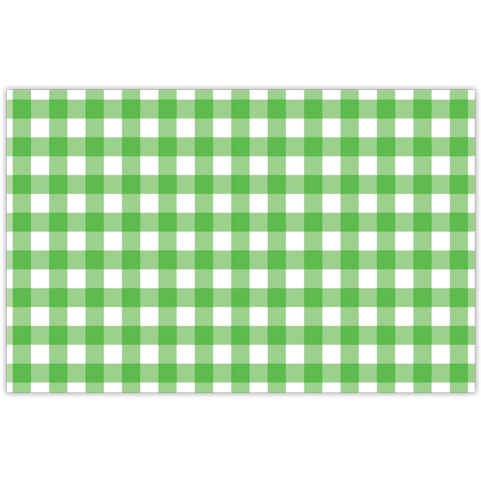 Kelly Green Gingham Paper Placemats