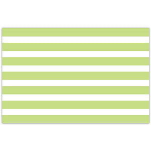 Lime Paper Green Cabana Stripe Placemats