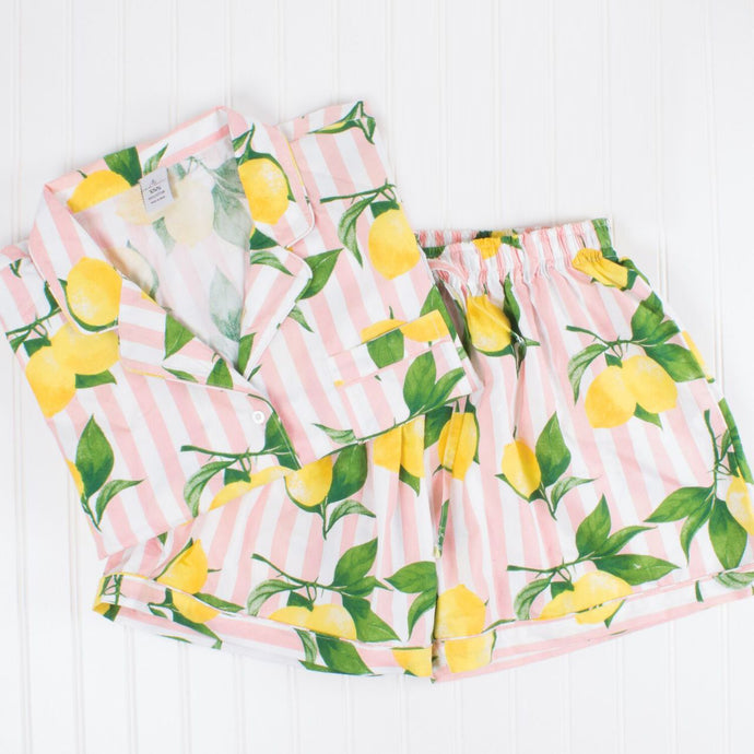 Lemon Printed Pajama Set