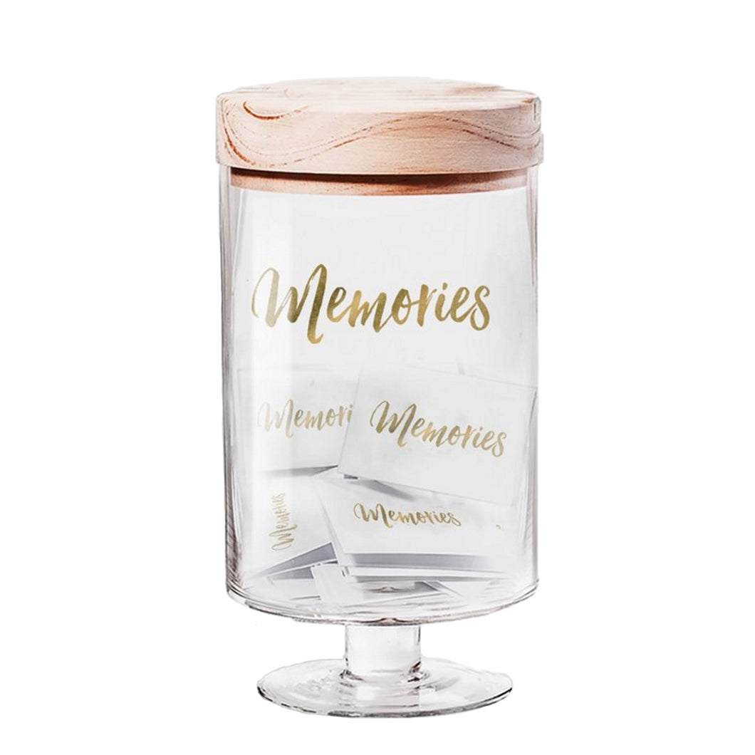 Memories Glass Jar