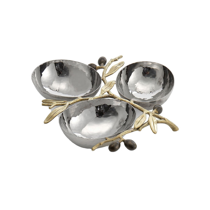 Michael Aram Olive Branch Gold Triple Dish