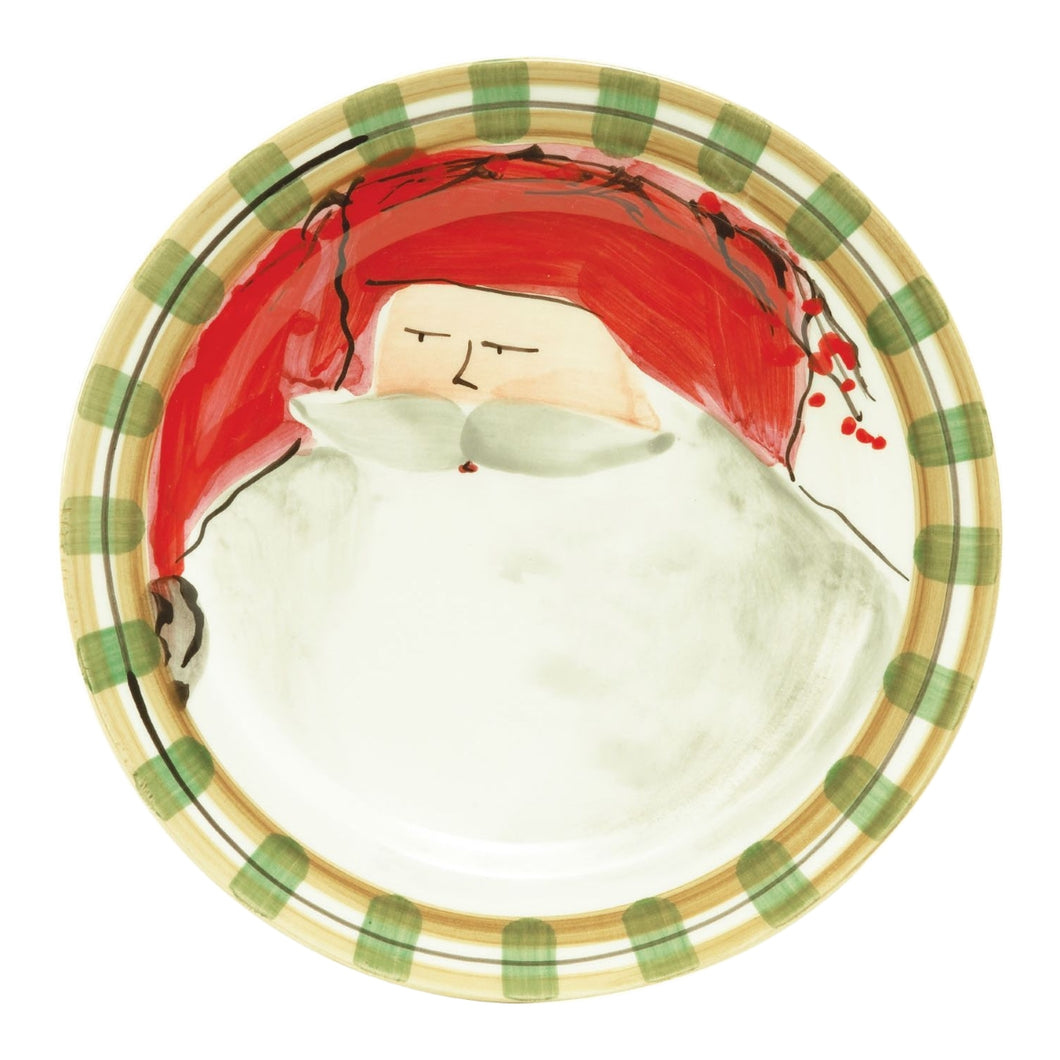 Vietri Old St Nick Dinner Plate - Red Hat