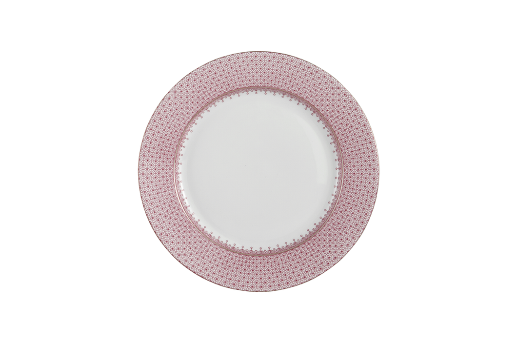 PINK LACE DESSERT PLATE MOTTAHEDEH