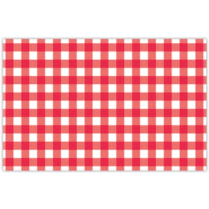 Roseanne Beck Red Gingham Placemats