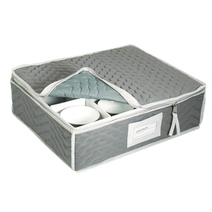 Richards Homewares - China Cup Storage Chest Deluxe Quilted Microfiber