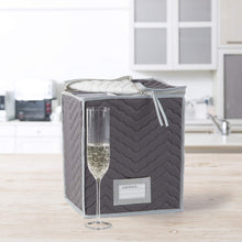 Load image into Gallery viewer, Richards Homewares Microfiber Deluxe Champagne Flute Storage Chest