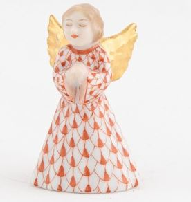 Herend Petite Praying Angel in Rust