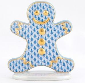 Herend Gingerbread Man, Blue