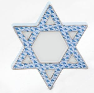 Herend Star of David, Blue