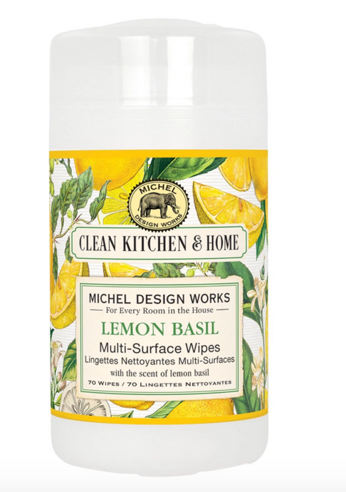 Lemon Basil Surface Wipes by Michel Design Works