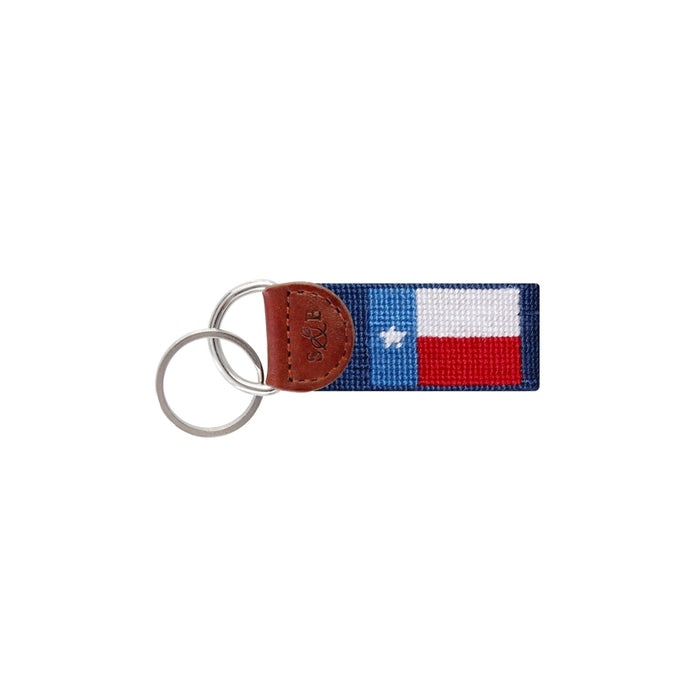 Smathers & Branson Texas Flag Needlepoint Key Fob