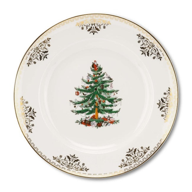 Spode Christmas Tree Gold Dinner Plate