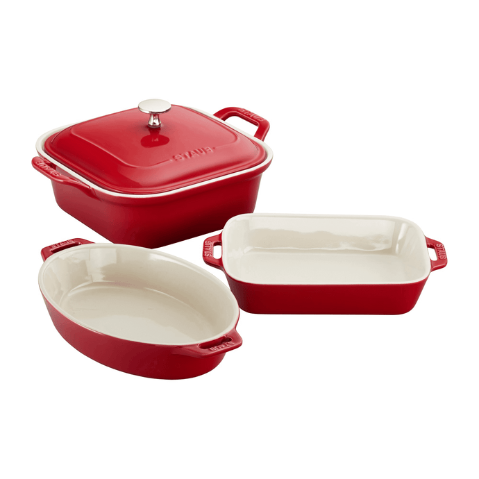 Staub Ceramic Baking Dish 4pc Set - Red