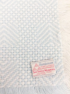 Three Weavers Hand Woven Baby Blue Blanket 100% Cotton