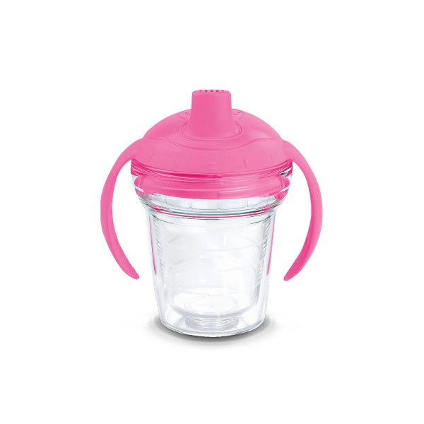 Tervis Clear 6oz Sippy Cup - Pink Lid