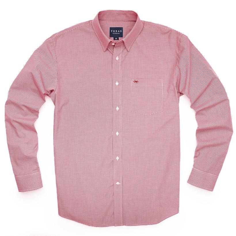 Texas Standard Gameday Sport Shirt - Red Microcheck
