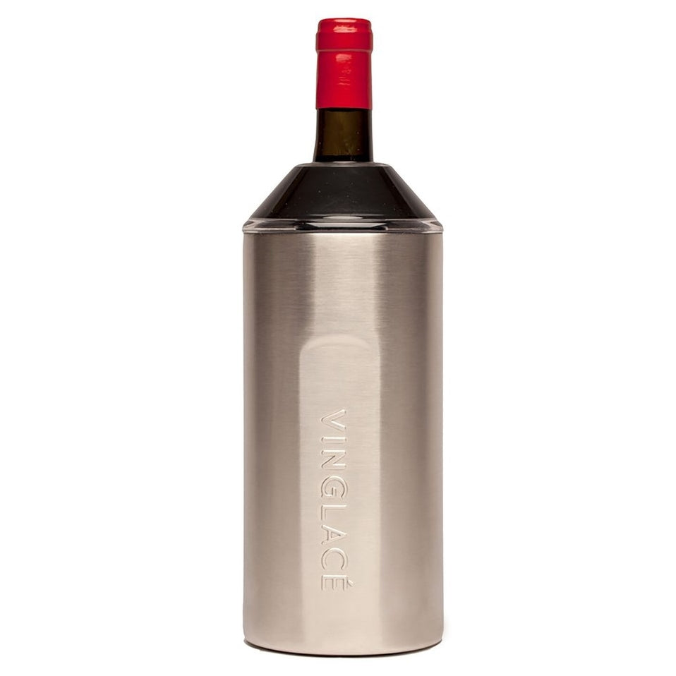 VinGlace Wine Chiller - Stainless with Black Top