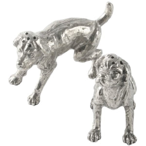 Vagabond House Pewter Spaniel Salt & Pepper Set