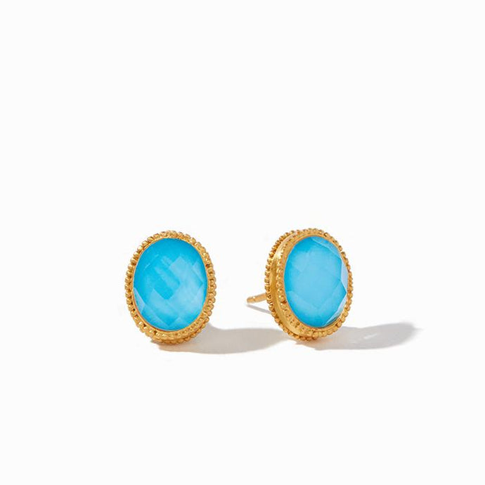 Julie Voss Verona Pacific Blue Stud Earrings