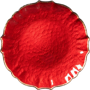 Vietri Pastel Glass Red Service Plate/Charger