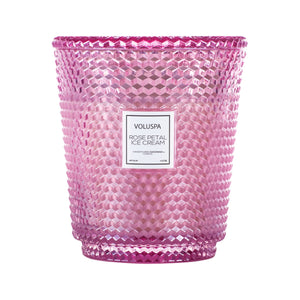 Voluspa 5 Wick Hearth Candle - Rose Petal Ice Cream