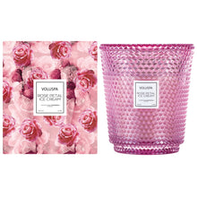 Load image into Gallery viewer, Voluspa 5 Wick Hearth Candle - Rose Petal Ice Cream