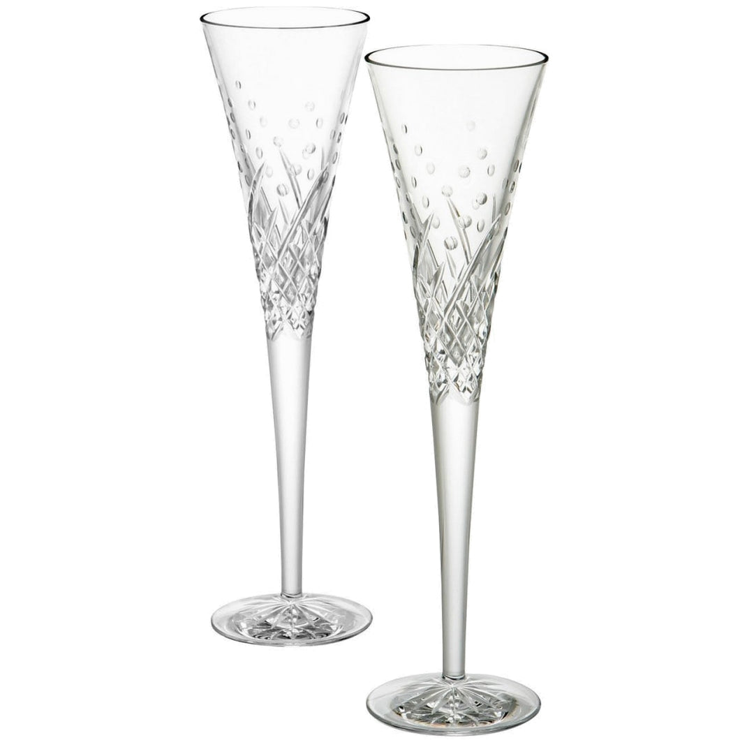 Waterford Happy Celebrations Toasting Flutes Pair