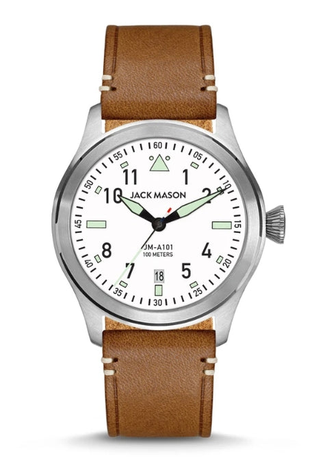 Aviation Saddle Leather Watch by Jack Mason