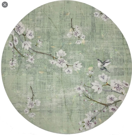 Blossom Fantasia Celadon Placemat by Nicolette Mayer Collection