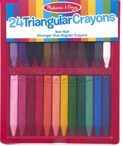 Triangular Crayons - 24 pack by Melissa and Doug