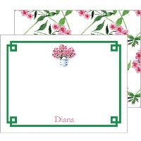 Pink Geranium Boxed Notes Folded