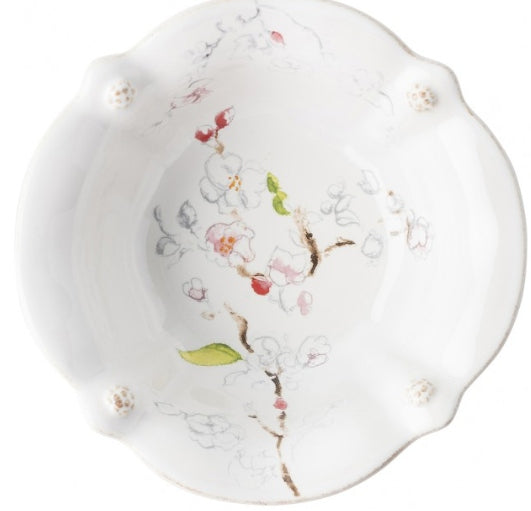 Berry & Thread Floral Sketch Cherry Blossom Cereal/Ice Cream Bowl by Juliska
