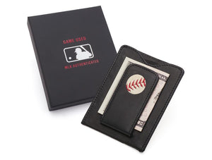 Houston Astros Game Used Baseball Money Clip Wallet