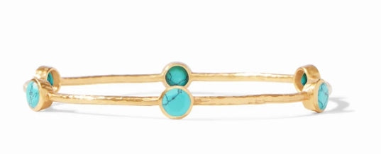 Milano Turquoise Gold Bangle by Julie Vos