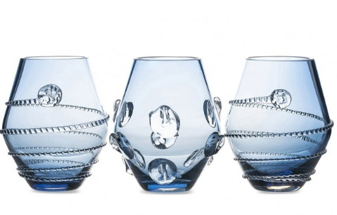 Juliska Mini Assorted Blue Vases Set/3