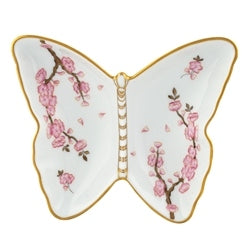 Herend Cherry Blossom Butterfly Porcelain Dish