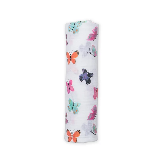 Butterfly Swaddling Blanket by Lulujo