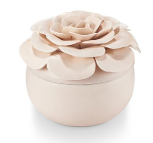 Illume - Coconut Ceramic Flower Candle