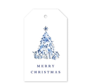 Blue Christmas Gift Tags - Dixie Designs