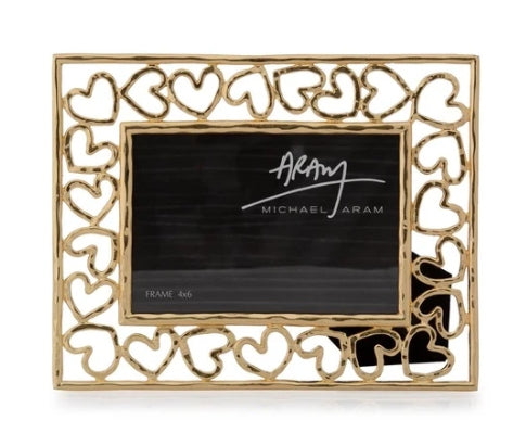 Michael Aram Heart Frame - Gold 4x6