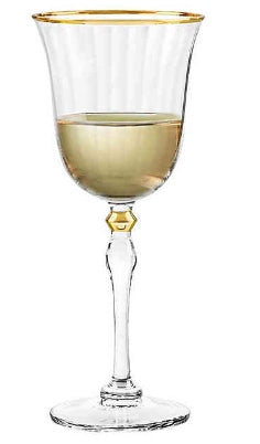 Salem Gold Wine Glass by Qualia Glass