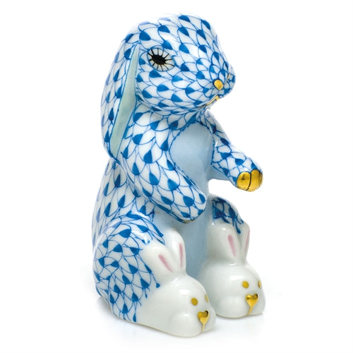 Herend Bunny with Slippers Blue