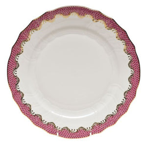 Herend Fishscale Raspberry Dinner Plate