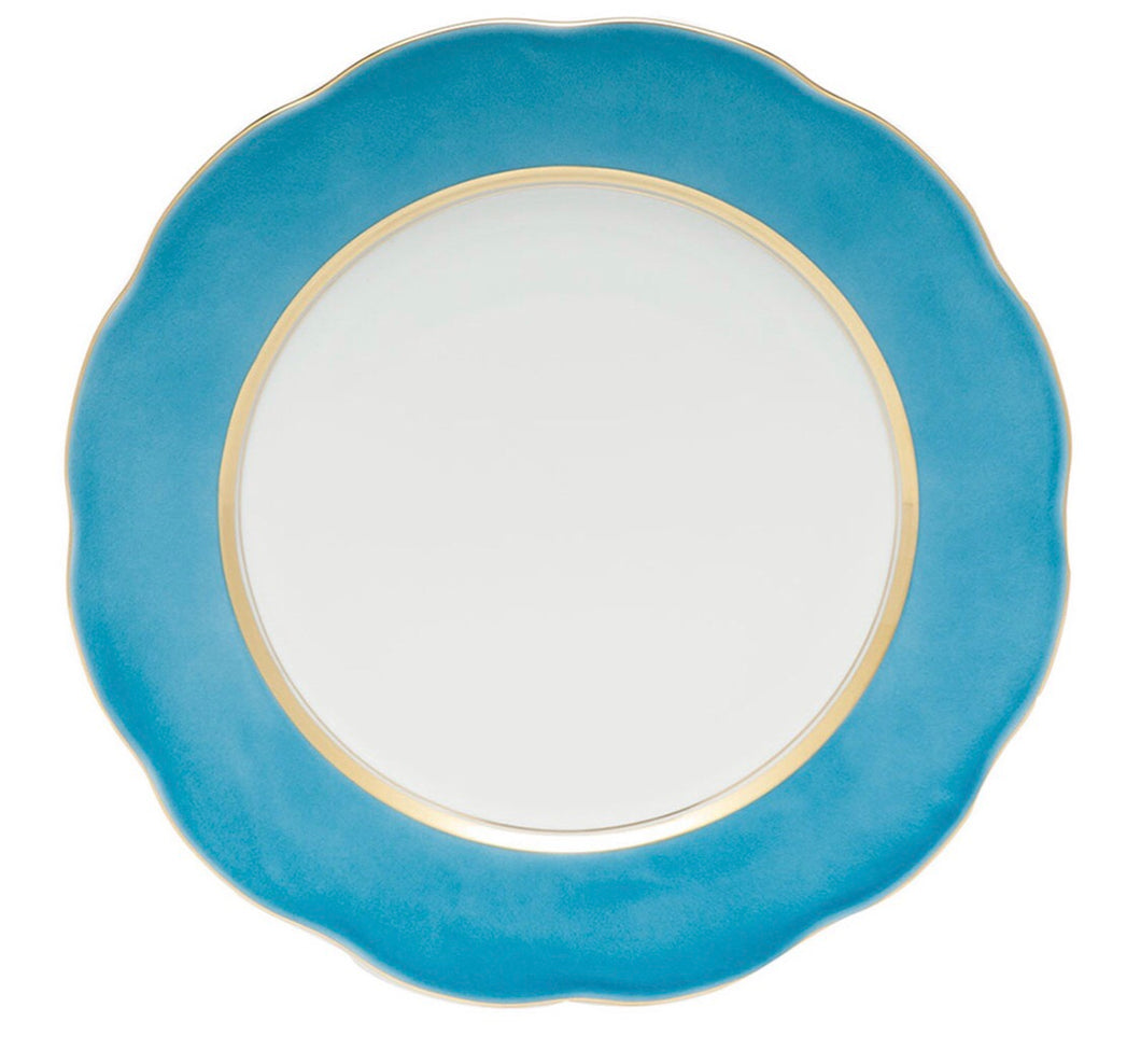 Herend Silk Ribbon Service Plate - Turquoise