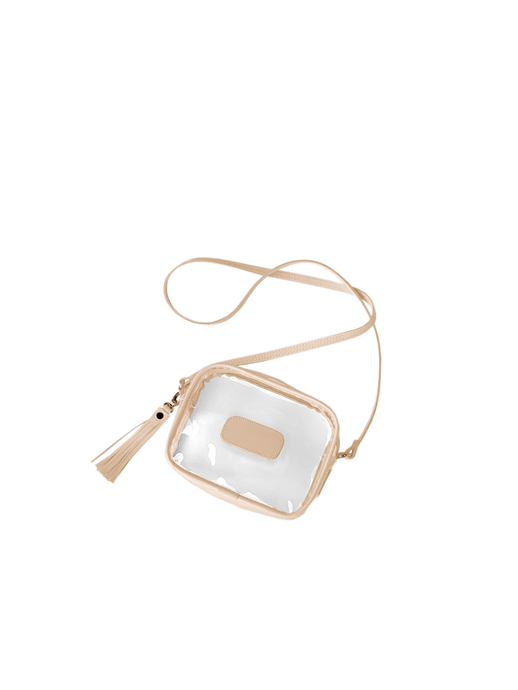 Jon Hart Lola Clear Crossbody Bag with Monogram - Natural
