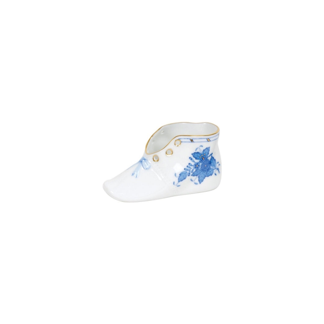 Herend Baby Shoe - Chinese Bouquet Blue