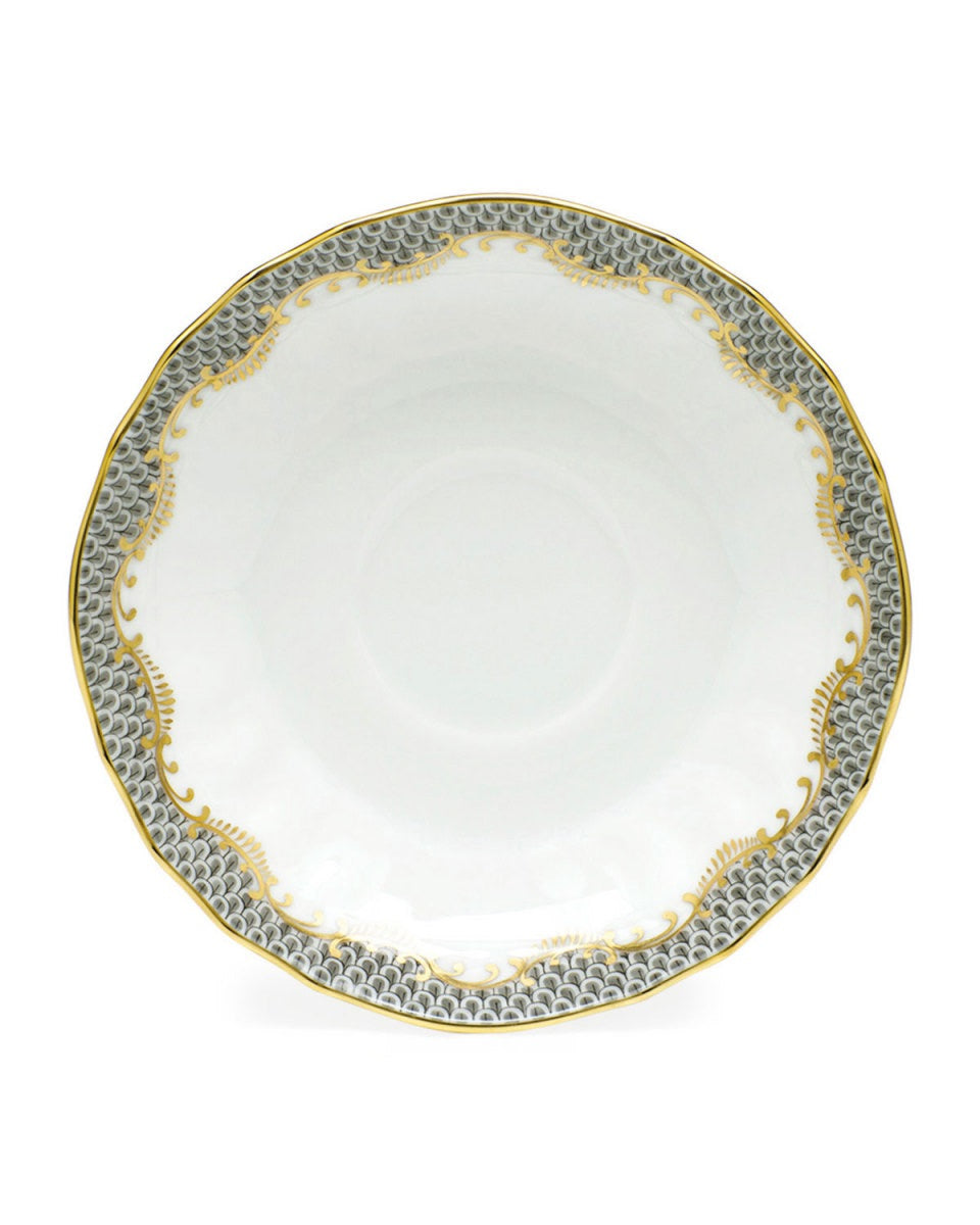 Gray Fishscale Herend Dessert Plate